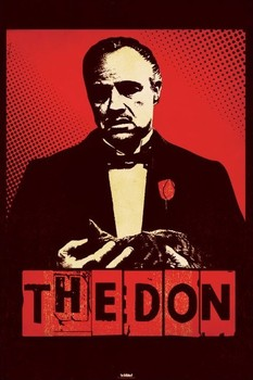 THE GODFATHER - the don Poster, Art Print