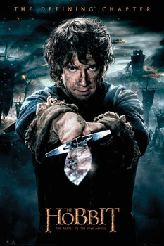 The Hobbit 3: Battle of Five Armies - Bilbo Poster, Art Print