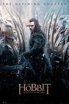 The Hobbit 3: Battle of Five Armies - Luke Evans Poster, Art Print