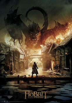 The Hobbit 3: Battle of Five Armies - Smaug Poster, Art Print