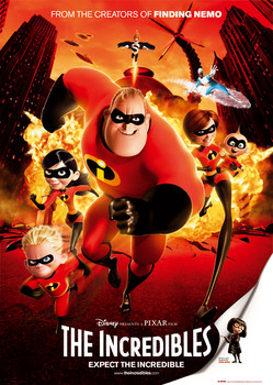 THE INCREDIBLES - one sheet Poster