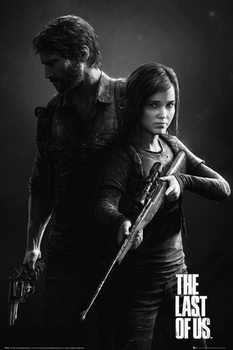 The Last Of Us - Black and White Portrait Poster, Art Print