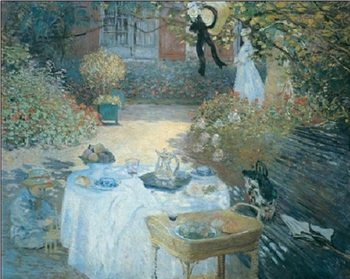 The Lunch (in the Garden), 1872 Art Print