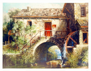 The Old Stone Mill Art Print
