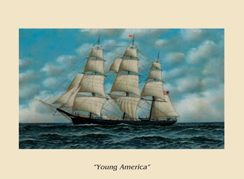 The Ship Young America Art Print