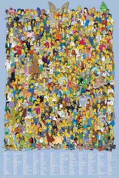 THE SIMPSONS - cast 2012 Poster, Art Print