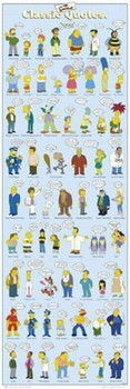THE SIMPSONS - classic quotes Poster