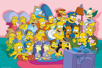The Simpsons - Couch Cast Poster, Art Print