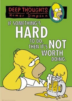 THE SIMPSONS - deep thoughts Poster