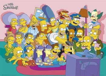 THE SIMPSONS - i cast couch Poster