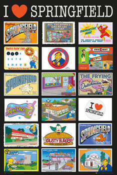 The Simpsons - Postcards Poster, Art Print