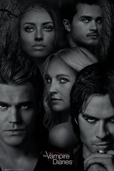 The Vampire Diaries - Faces Poster, Art Print