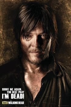 THE WALKING DEAD - Daryl Shadows Poster, Art Print