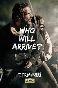 The Walking Dead - Rick and Michonne Survive Poster, Art Print