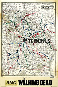 Poster The Walking Dead - Terminus Map