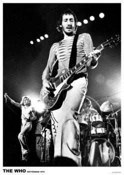 The Who - Pete Townshend, Live in Rotterdam 1975 Poster