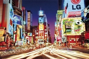 Times square - colour Poster