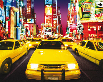 Times square - taxi Poster