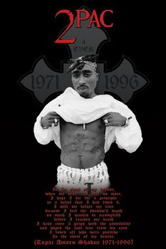Tupac - cross Poster