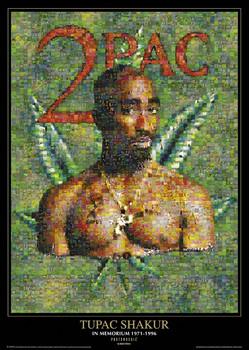 Tupac - photomosaic dope Poster