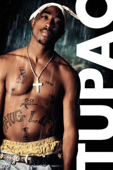 Tupac - Rain Poster, Art Print