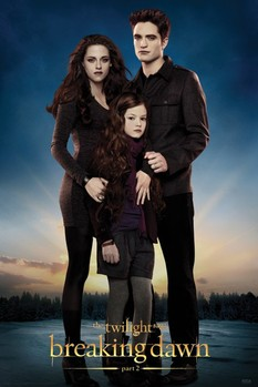TWILIGHT BREAKING DAWN 2 - edward,bella & renesmee Poster