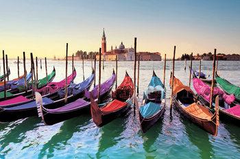 Poster Venice - gondolas