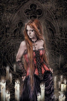 Victoria Frances - red basque Poster