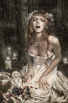 Victoria Frances - vampire girl Poster