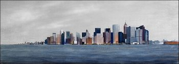View from boat to Manhattan Art Print