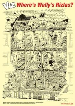 VIZ - Wally's Rizla's Poster