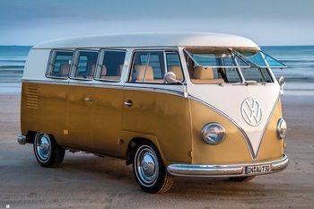 Poster Volkswagen - Brendan Ray Gold Kombi III