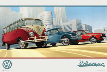 Poster  VW Camper - Illustration