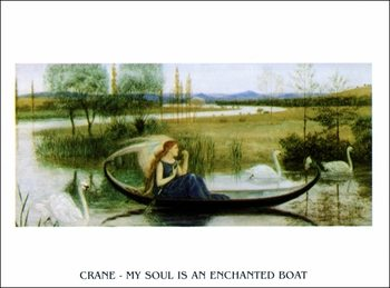 W.Crane - My Soul Is An Enchanted Boat Art Print