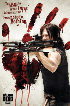 Walking Dead - Bloody Hand Daryl Poster