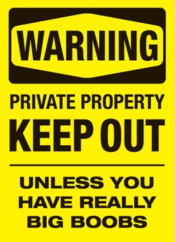 Warning - boobs Poster