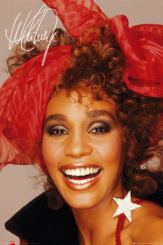 Whitney Houston - scarf Poster