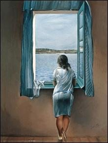 woman at the window Art Print