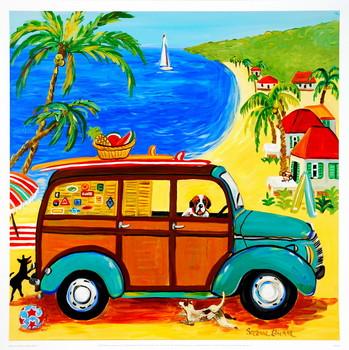 Woody at the Beach Art Print