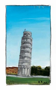World Landmark Italy Art Print