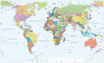 Poster World Map - Political
