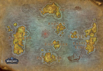 World Of Warcraft - Map Poster