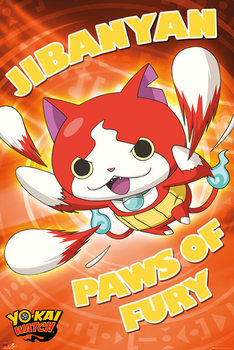 Poster Yo-Kai Watch - Paws of Fury