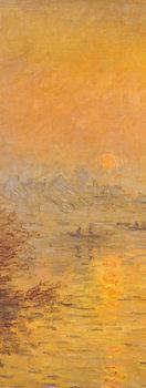 Západ slunce nad Seinou v Lavacourt (část) Art Print