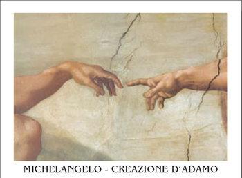 Zrození Adama (část) Art Print