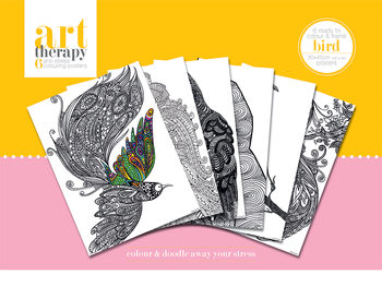 Posters para colorir Art Therapy - Bird