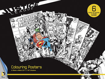 Posters para colorir DC Comics - Justice League