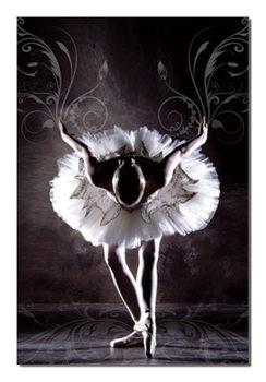 Black & White Ballerina Mounted Art Print