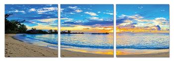 Blue Coast Mounted Art Print