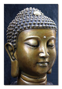 Buddha - Face Mounted Art Print